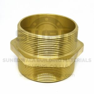 Hex Nipple Brass
